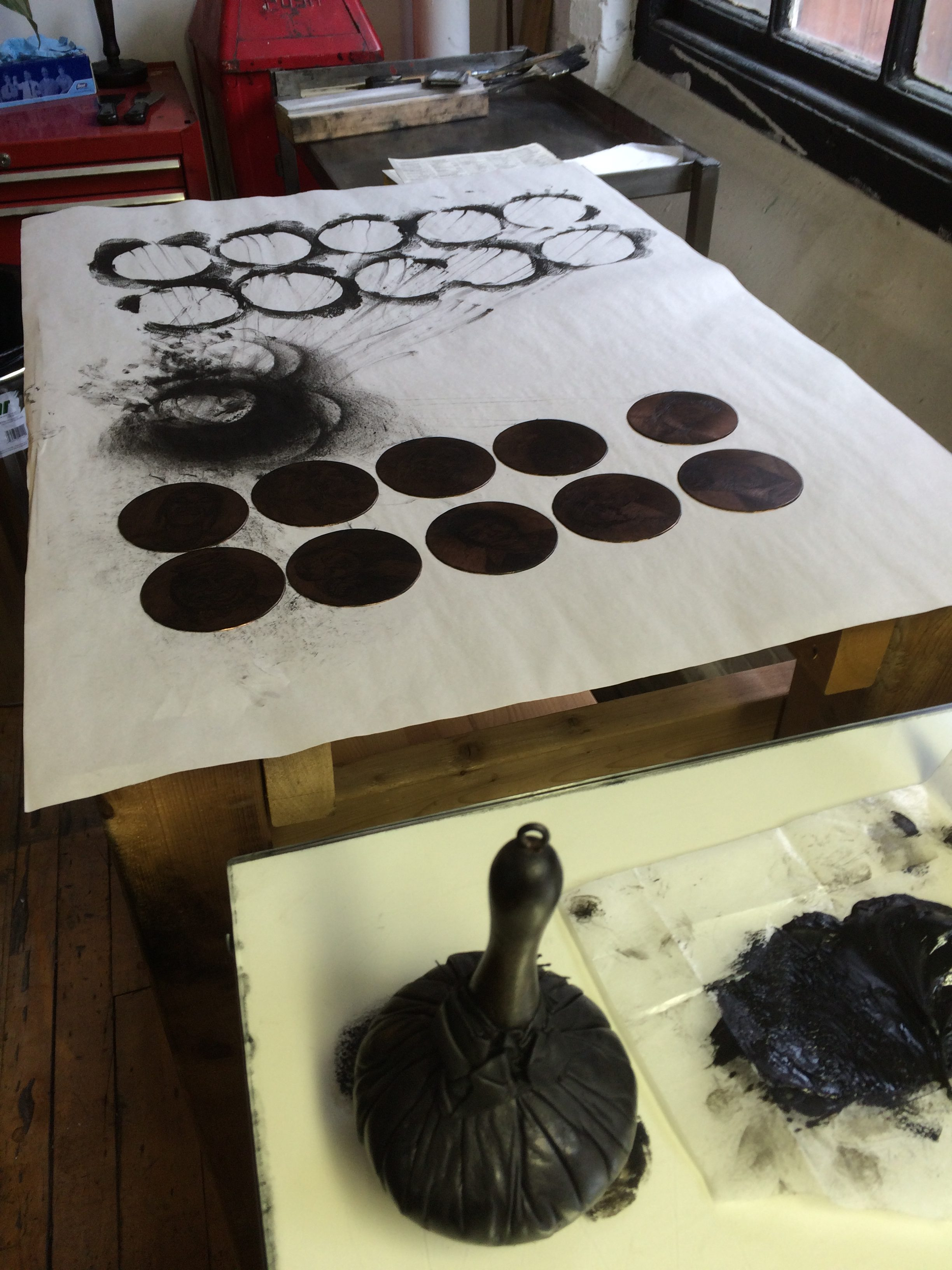 Smokestack - Etching Plate Inking